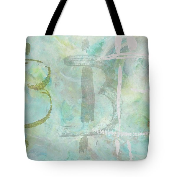 Tote Bag featuring the painting Bitcoin Universe by Eva Konya