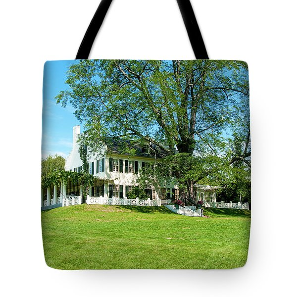 Tote Bag featuring the photograph Bit O Nh History by Greg Fortier