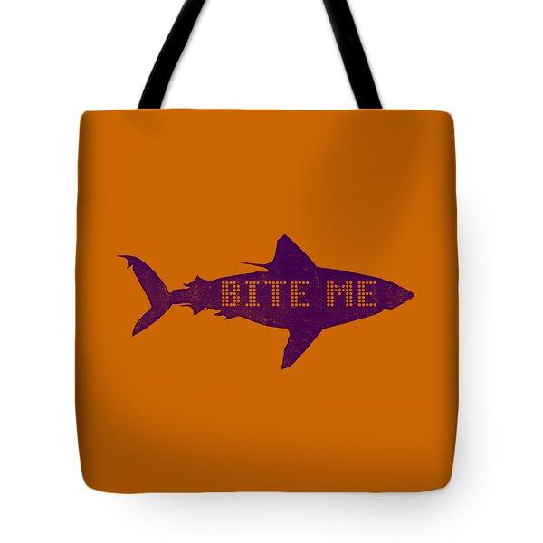 Bite Me Tote Bag by Michelle Calkins