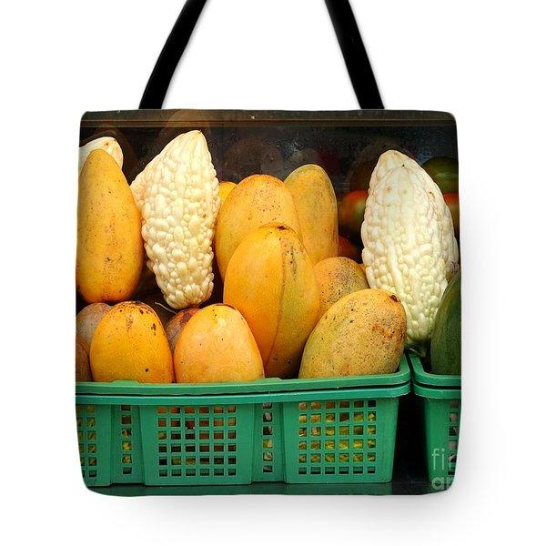 Bitter Gourds, Mangos And Papayas Tote Bag
