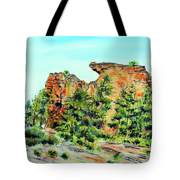Bitterroot Cliffs Tote Bag by Tracy Rose Moyers