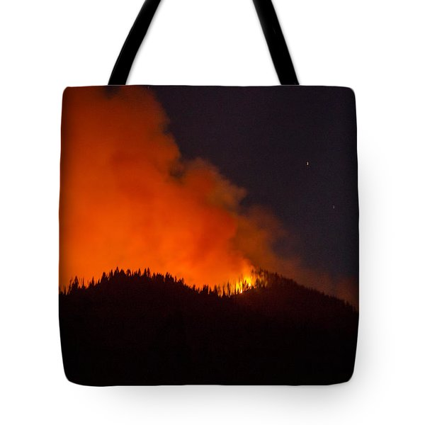 Bitterroot Forest Fire Tote Bag by Brad Stinson