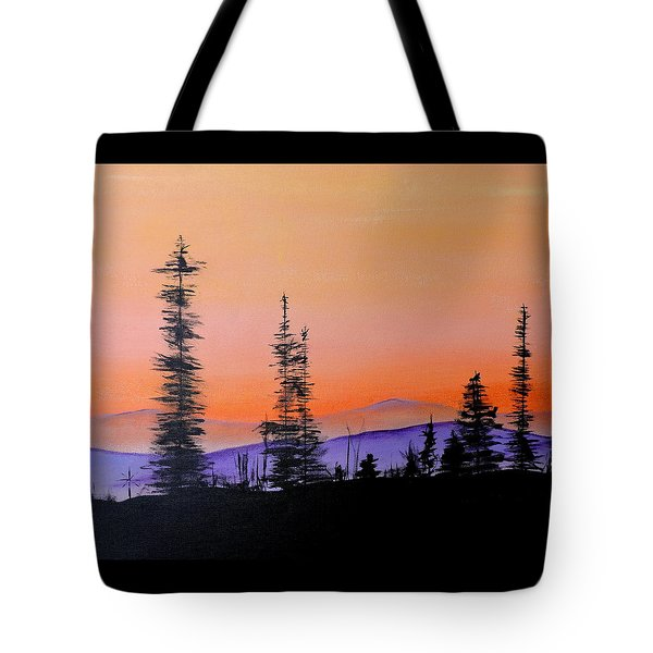 Bitterroot Mountain Range Tote Bag