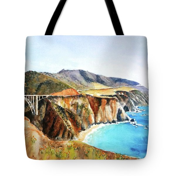 Bixby Bridge Big Sur Coast California Tote Bag