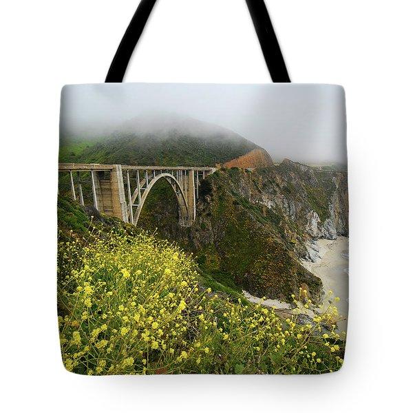 Bixby Bridge Tote Bag by Harry Spitz