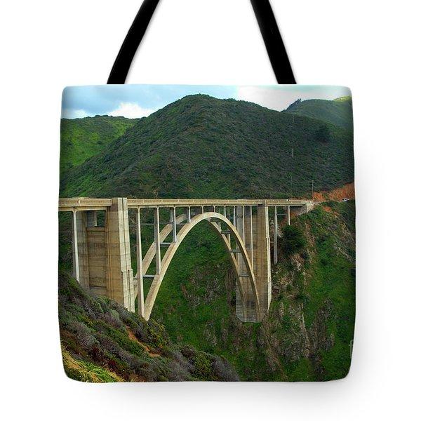 Bixby Bridge In Big Sur Tote Bag