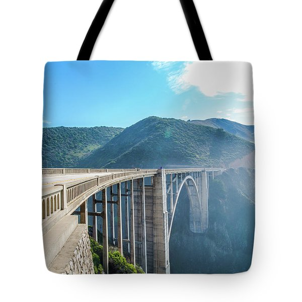 Tote Bag featuring the photograph Bixby Bridge,big Sur by Jingjits Photography