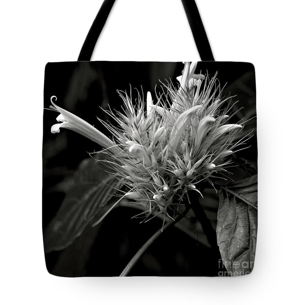 Tote Bag featuring the photograph Bizarre Flower Charm by Silva Wischeropp