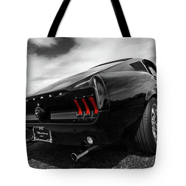 Black 1967 Mustang Tote Bag