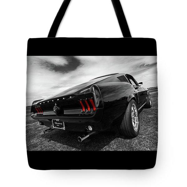 Black 1967 Mustang Tote Bag