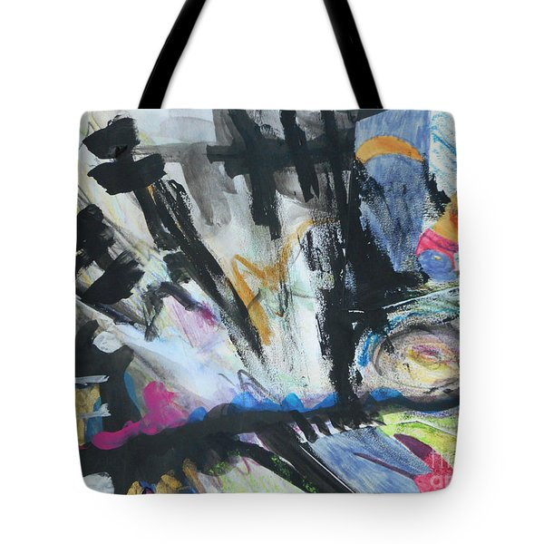 Black Abstract Tote Bag