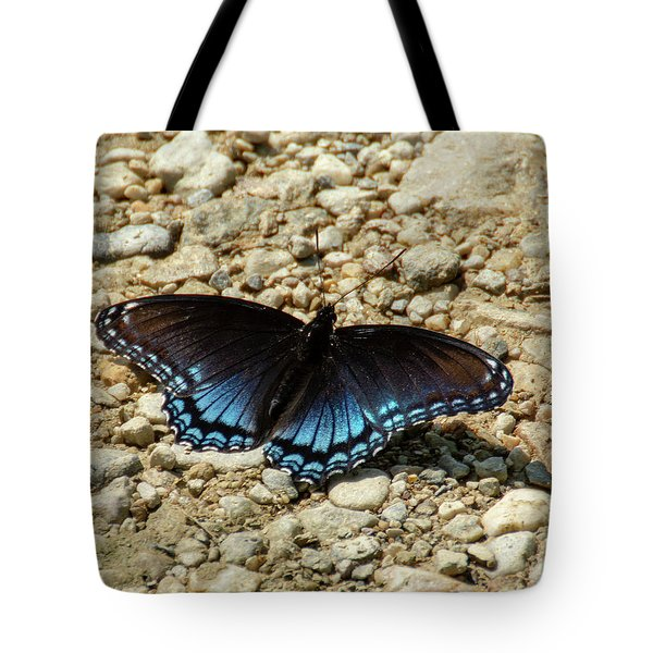 Black And Blue Monarch Butterfly Tote Bag