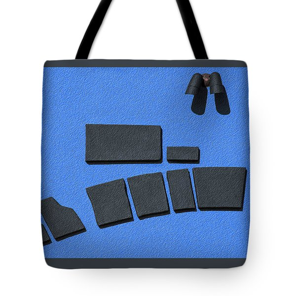 Tote Bag featuring the photograph Black And Blue by Paul Wear