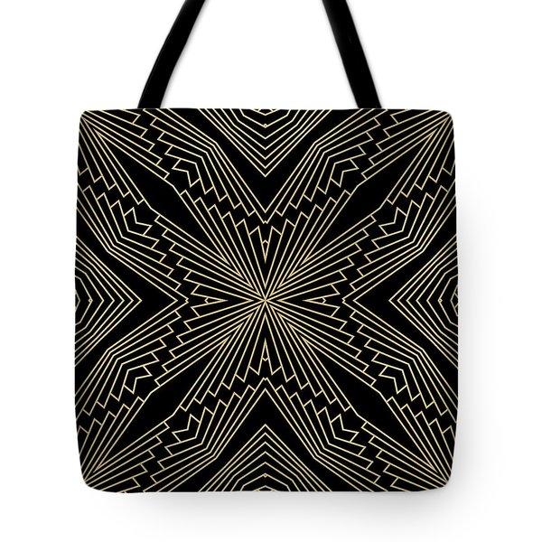 Black And Gold Art Deco Filigree 003 Tote Bag