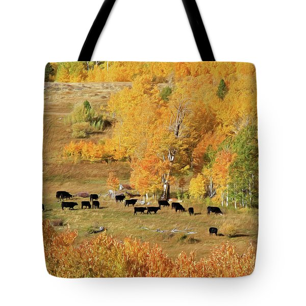 Tote Bag featuring the photograph Black And Gold by Donna Kennedy
