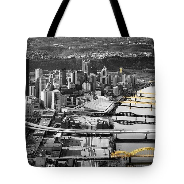 Black And Gold Pittsburgh  Tote Bag by Emmanuel Panagiotakis