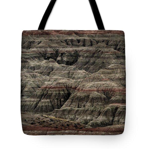 Black And Red Strata The Badlands South Dakota Tote Bag