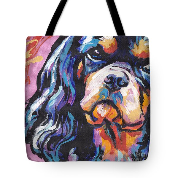 Black And Tan Cav Tote Bag by Lea S