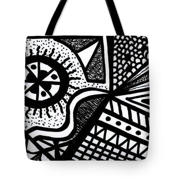 Black And White 14 Tote Bag