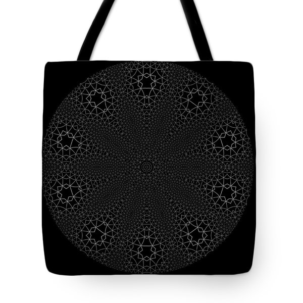 Tote Bag featuring the digital art Black And White 3 by Robert Thalmeier