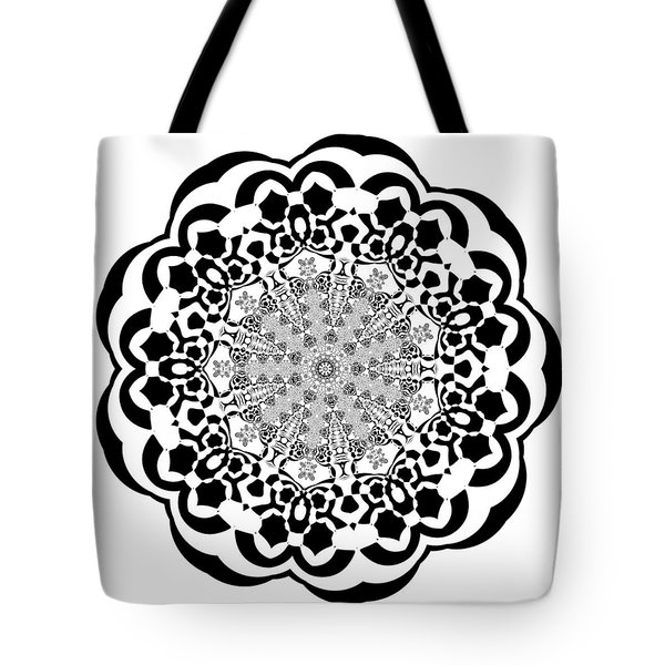 Tote Bag featuring the digital art Black And White 4 by Robert Thalmeier