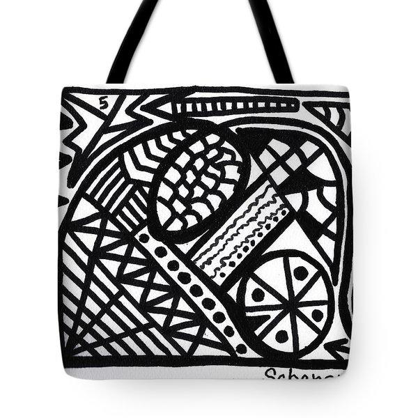 Black And White 5 Tote Bag