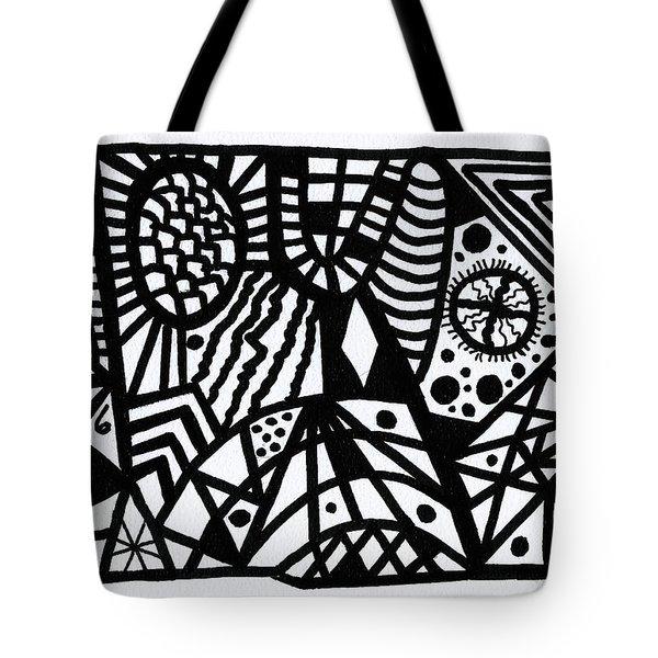 Black And White 6 Tote Bag
