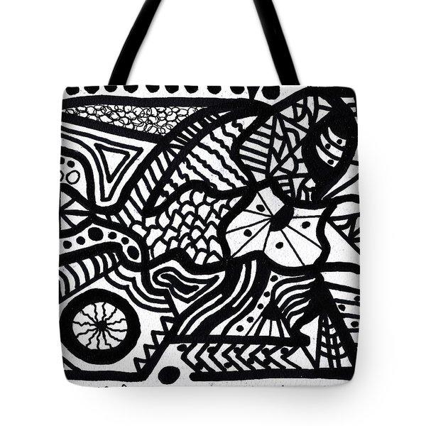 Black And White 7 Tote Bag