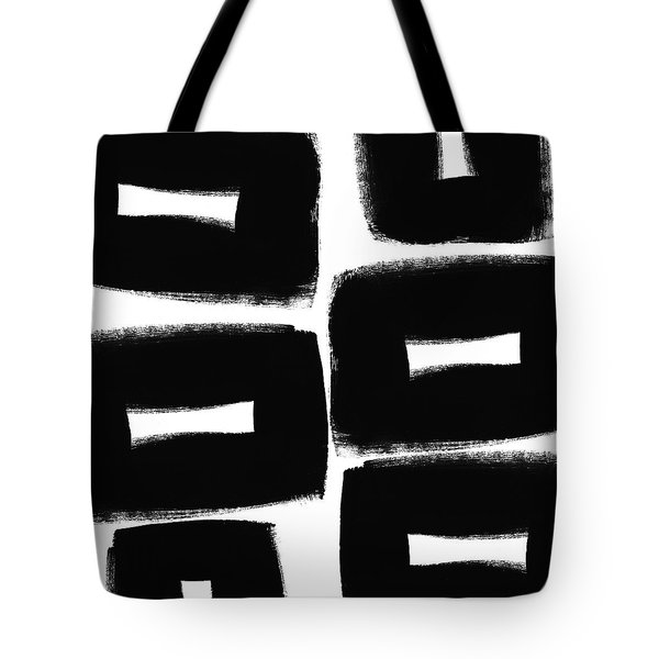 Black And White Abstract- Abstract Painting Tote Bag