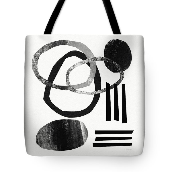 Black And White- Abstract Art Tote Bag by Linda Woods
