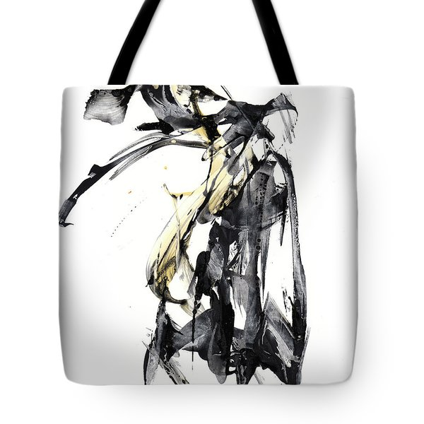 Black And White Abstract Expressionism Series 7344.072009 Tote Bag