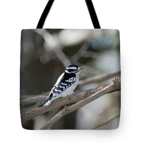 Black And White Bird Tote Bag