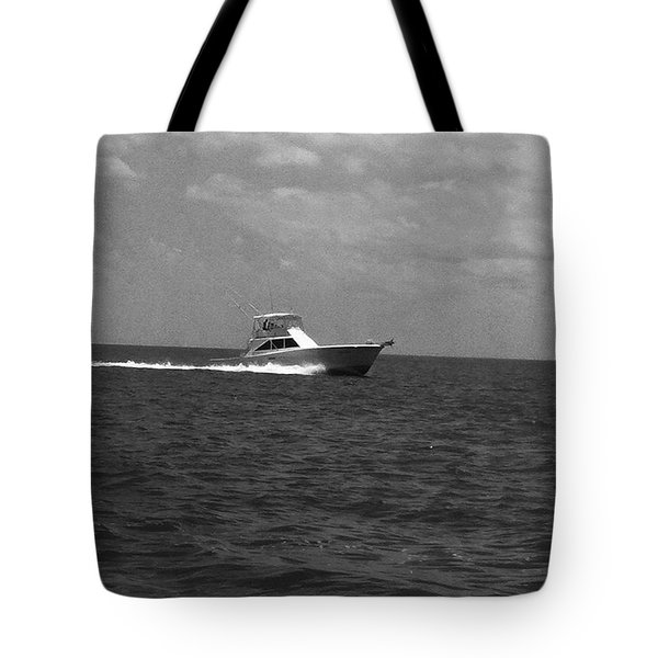 Black And White Boating Tote Bag