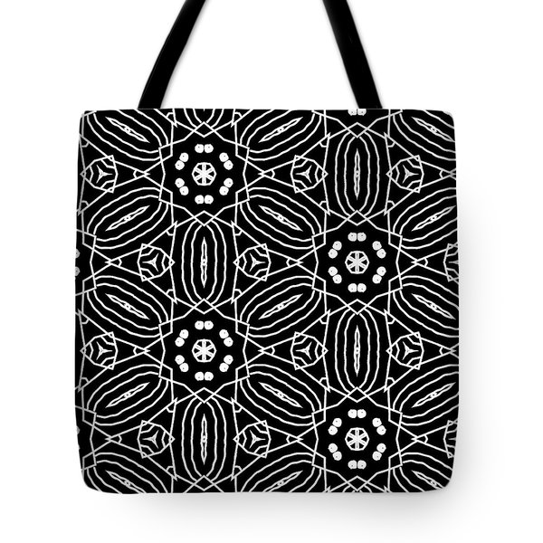 Black And White Boho Pattern 2- Art By Linda Woods Tote Bag