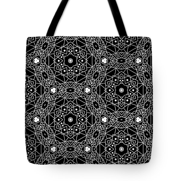 Black And White Boho Pattern 3- Art By Linda Woods Tote Bag