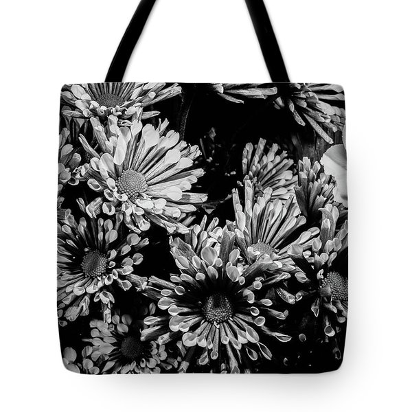 Black And White Bouquet Tote Bag