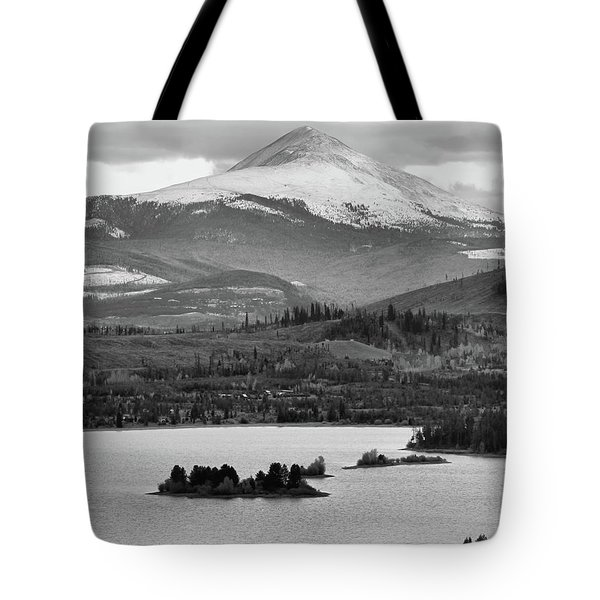 Tote Bag featuring the photograph Black And White Breckenridge by Dan Sproul