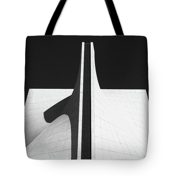 Tote Bag featuring the photograph Black And White Building by MGL Meiklejohn Graphics Licensing
