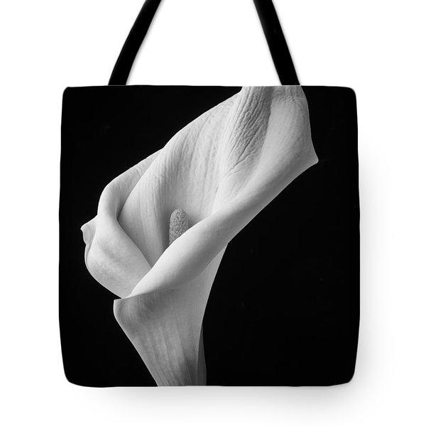 Black And White Calla Lily Tote Bag