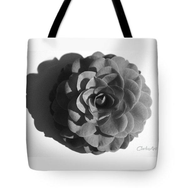 Camellia In Black And White Tote Bag