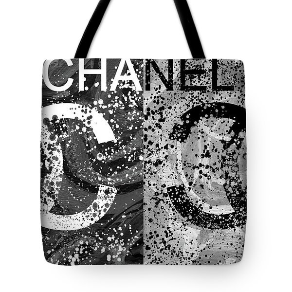 Black And White Chanel Art Tote Bag