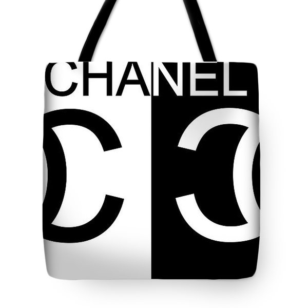 Black And White Chanel Tote Bag