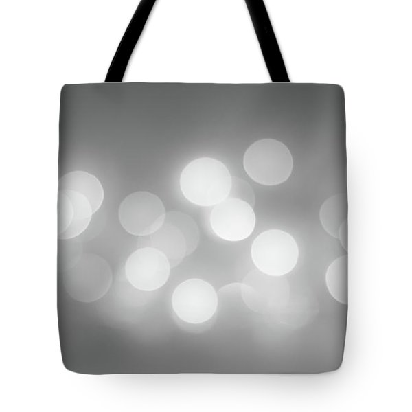 Black And White Circle Abstract  Tote Bag by Terry DeLuco