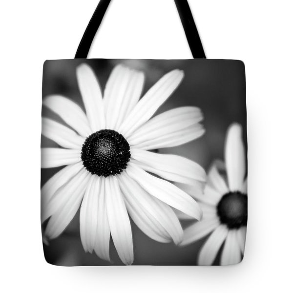 Tote Bag featuring the photograph Black And White Daisy by Christina Rollo