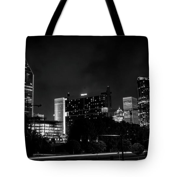 Black And White Downtown Tote Bag