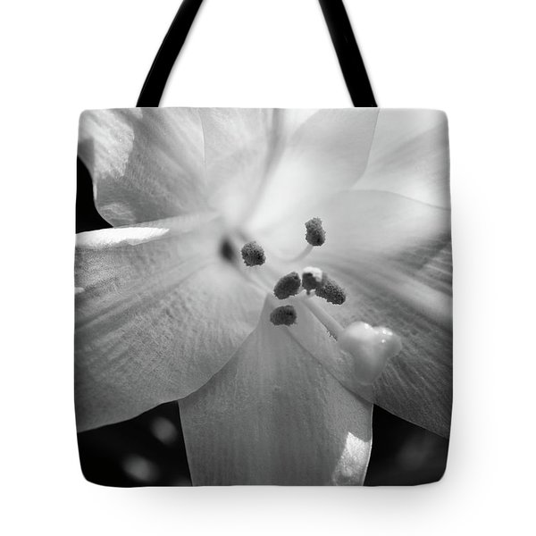 Black And White Easter Lily Tote Bag