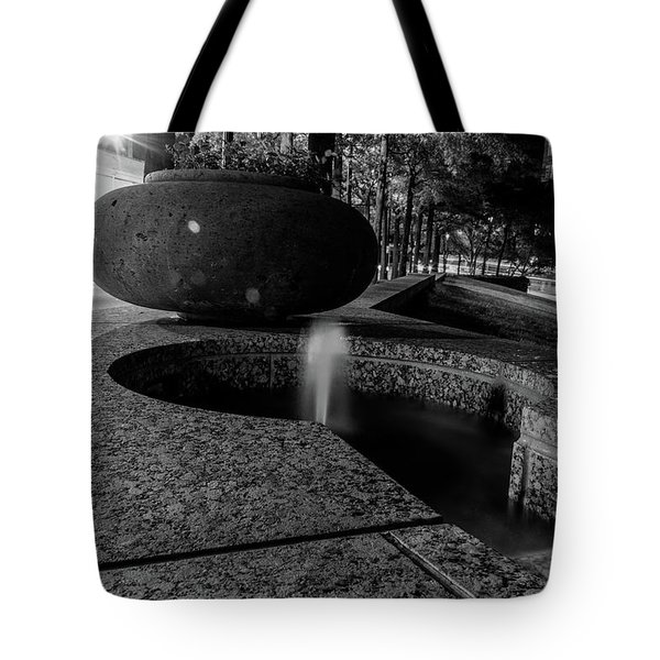 Black And White Fountain Tote Bag