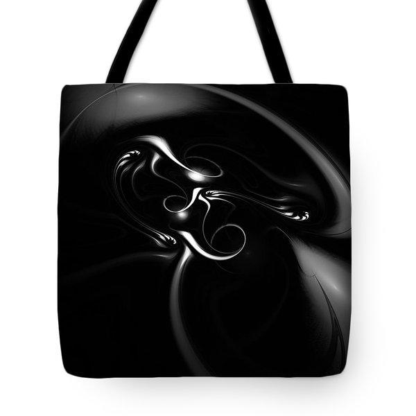 Black And White Fractal 080810b Tote Bag