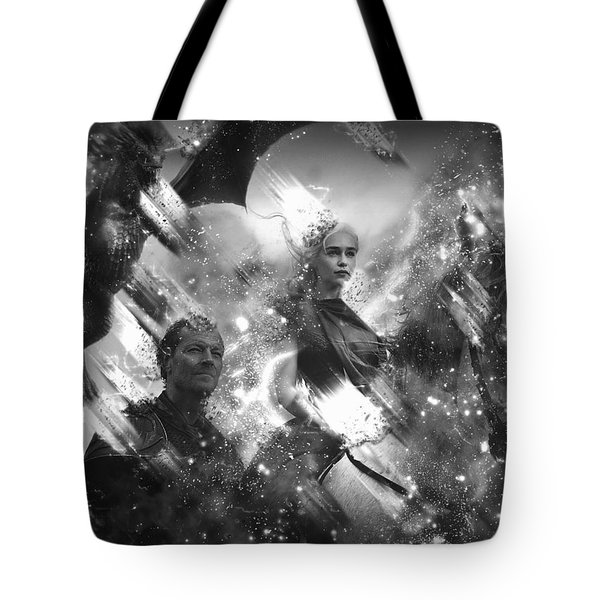 Black And White Games Of Thrones Another Story Tote Bag