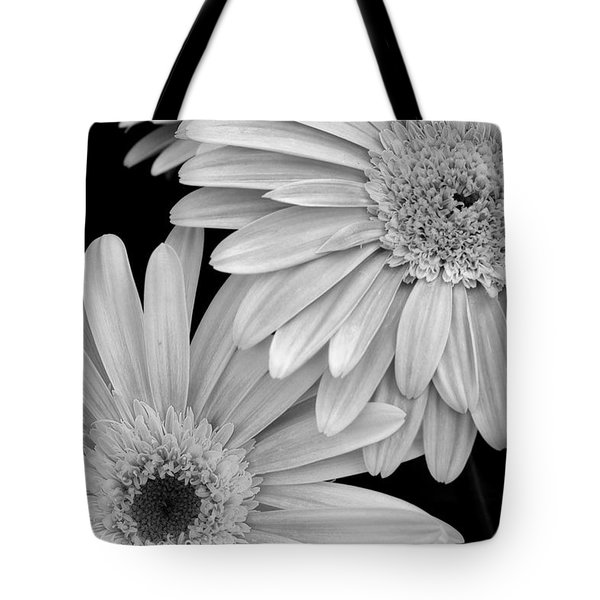 Black And White Gerbera Daisies 1 Tote Bag by Amy Fose